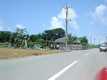 島の北側の集落