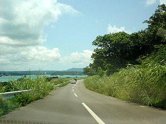 古宇利島の道路