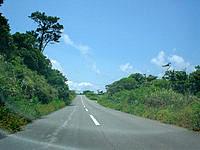 古宇利島の古宇利島の道路の写真