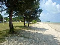 屋我地島の屋我地ビーチ - 有料なのはキャンプなどができるから?