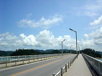 屋我地大橋とそこからの景色