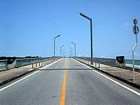 北部奥武島の屋我地大橋とそこからの景色の写真