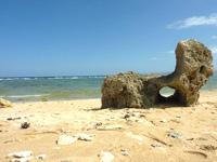 沖縄本島離島 古宇利島の渡海浜/トケイ浜/ピポットホールの写真