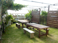 古宇利島のパーラーまるみ/お食事処まるみ - ほどよい広さの庭