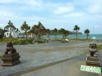 屋我地島の屋我地島海辺の公園/カフェウフウフ - 2個目のゲートの先にお店?