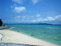 古宇利島の古宇利大橋東の海の写真