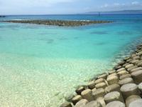 久高島のメーギ浜 - 消波ブロックがあるので眺めるだけが良いかも