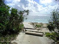 久高島のシマーシ浜 - 台風の影響でこうなっていることもあるかも