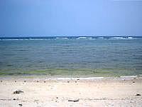 久高島のシマーシ浜 - 満潮時の方がきれいかな?
