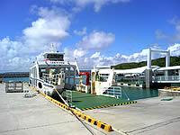 久高島の徳仁港(久高島の玄関口)