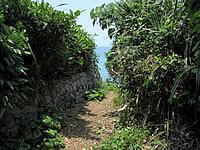 久高島の久高島北側の道
