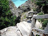 久高島のイザイガー - 階段の先は崩壊していて先に進めません