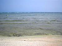 久高島のウパーマ - 海は干潮時は泳げる感じではない