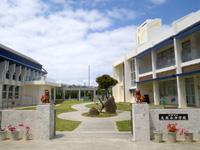 久高島の久高小中学校