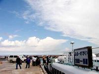 久米島「真泊港(旧高速艇の港)」