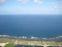 久米島の比屋定バンタ - 久米島北側の海の青色は濃い