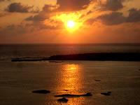 シンリ浜の夕日