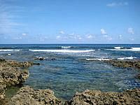 久米島の熱帯魚の家 - 外洋まですぐ近くですが潮溜まりはしっかりしています