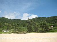 久米島のアーラ浜/阿良ビーチ - 施設はありますがほぼ放置状態