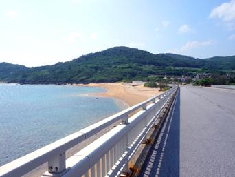 久米島の島尻の浜