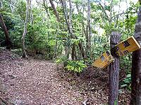 久米島のだるま山園地 - 案内板は朽ち果ててよく分からない