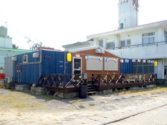 久米島のにくやき屋 金平「イーフビーチ民宿街にあります」