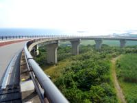 久米島のつむぎ橋/てぃーだ橋 - てぃーだ橋は上の橋