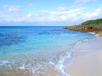 来間島の長崎浜 - 波は長間浜より穏やかかも?