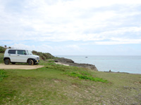 来間島のムスヌン浜 - 数台止められる駐車スペース有り