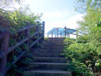 来間島の来間東農村公園/展望台 - 駐車場から階段を登った先が展望所