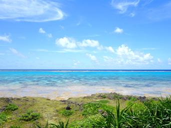 黒島の黒島南端の海「意外と言っちゃ失礼ですが超綺麗」