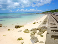 西の浜脇のビーチ/防波堤