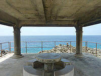 南大東島の塩屋プール/展望台 - 休憩できるスペース