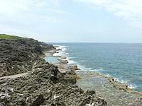 南大東島の塩屋プール/展望台 - プール側はシュノーケリングできるというが・・・