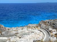 南大東島の北港/南大東港 北地区/レインボーストーン - レインボーストーンを磨くとこうなる!