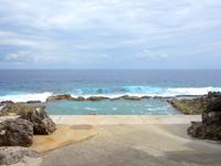 南大東島の海軍棒プール/南大東島東海岸植物群落 - 力強い海岸線と植物群落