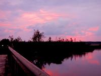 南大東島の瓢箪池/月見池/月見橋 - 月見池は南に月を映して見れるのかな?
