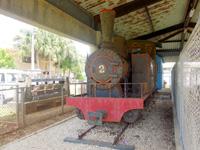 南大東島のシュガートレイン/ふるさと文化センター/離島振興総合センター - 実際に使われていた蒸気機関車