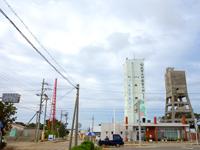 南大東島の配水棟ツインタワー/トリプルタワー