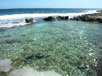 南大東島の本場プール - 他のプールよりやや狭め