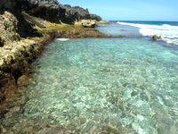 南大東島の本場プール - 透明度は一番高いプールかも?