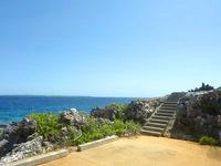 南大東島の本場海岸 - 展望スペースからの眺め