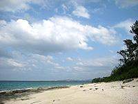 北側のビーチ