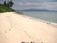 島南側のビーチ