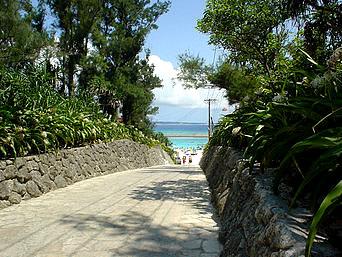 水納島の道