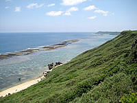 宮古島の比嘉ロードパーク - 南側の景色(遠くに東平安名崎)