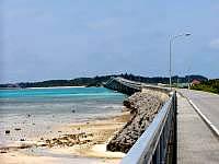 宮古島の池間大橋(宮古島側)の写真