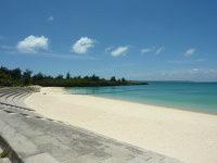 宮古島のパイナガマビーチ - 防波堤は整備されましたがビーチはそのまま