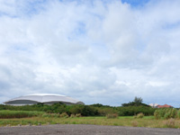 宮古島の宮古島ドーム/スポーツ観光交流拠点施設 - 宮古空港のすぐ近くだけど市街から遠い