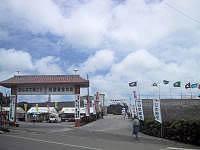 宮古島の総合グラウンド(トライアスロンゴール会場) の写真